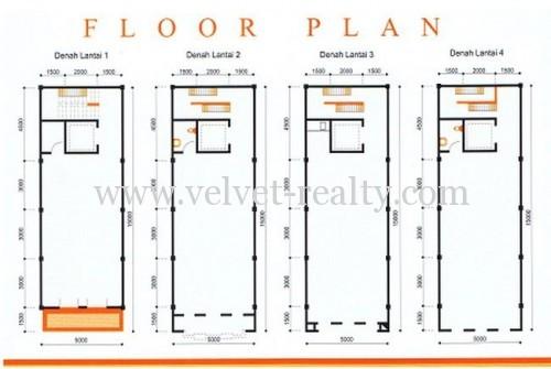 Disewakan RuKo Boutique Office Park Kemayoran Luas 5×15 #VR026