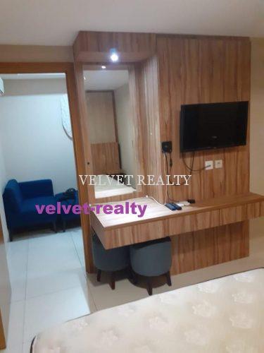 Dijual Apt The Mansion Kemayoran 1 BR Luas 33m2 Furnish #VR711